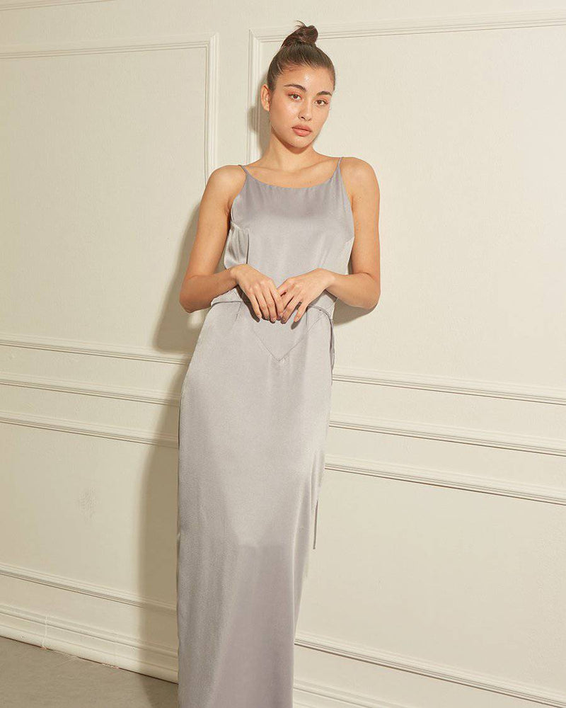 BELIEVER TWO WAY WRAP - SILVER MIST-Dress-MISS MODERN Boutique-MISS MODERN