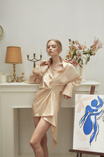 DEAR DARLING DRESS SHIRT-Dress-MISS MODERN-Freesize-Champagne-MISS MODERN