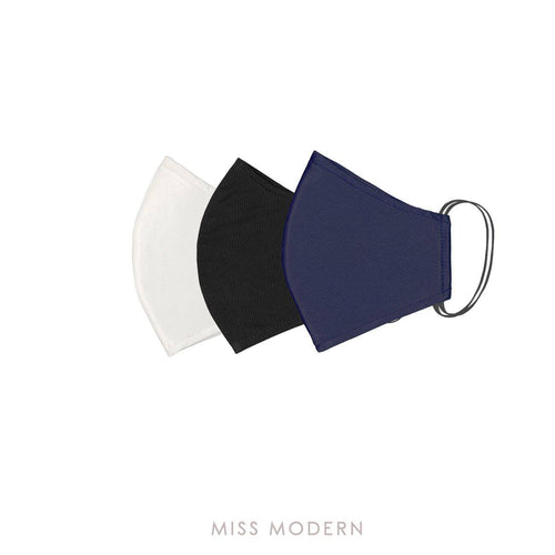 Fabric Mask - Mystic Wonder set (3pcs)-mask-MISS MODERN-Black, White, Navy-MISS MODERN