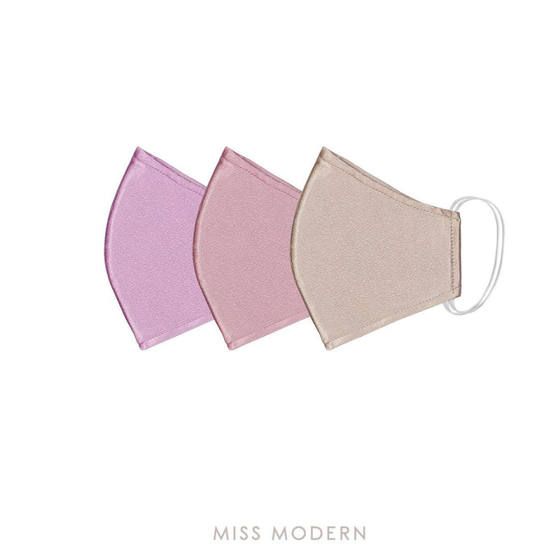 Fabric Mask - Sweet Pleasure set (3pcs)-mask-MISS MODERN-Rosegold, Lavender, Pink-MISS MODERN
