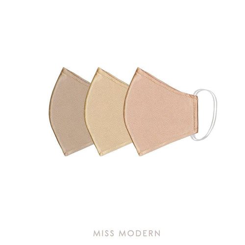 Fabric Mask - Wonder Glow set (3pcs)-mask-MISS MODERN-Gold, Bronze, Almond-MISS MODERN