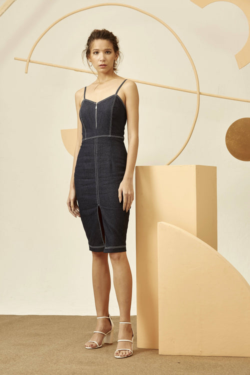 HIGHLINES DRESS-Dress-MISS MODERN-L-DENIM-MISS MODERN