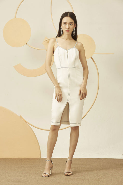 HIGHLINES DRESS-Dress-MISS MODERN-XS-WHITE-MISS MODERN