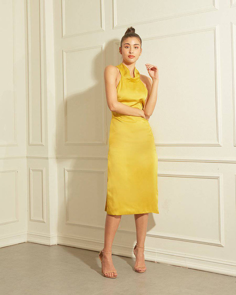 IMAGINE - BLUE SAPPHIRE-Dress-MISS MODERN Boutique-XS-YELLOW MUSTARD-MISS MODERN