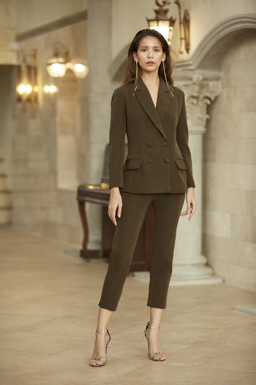 Kaia Pant - Khaki green-Bottoms-MISS MODERN-S-Khaki Green-MISS MODERN