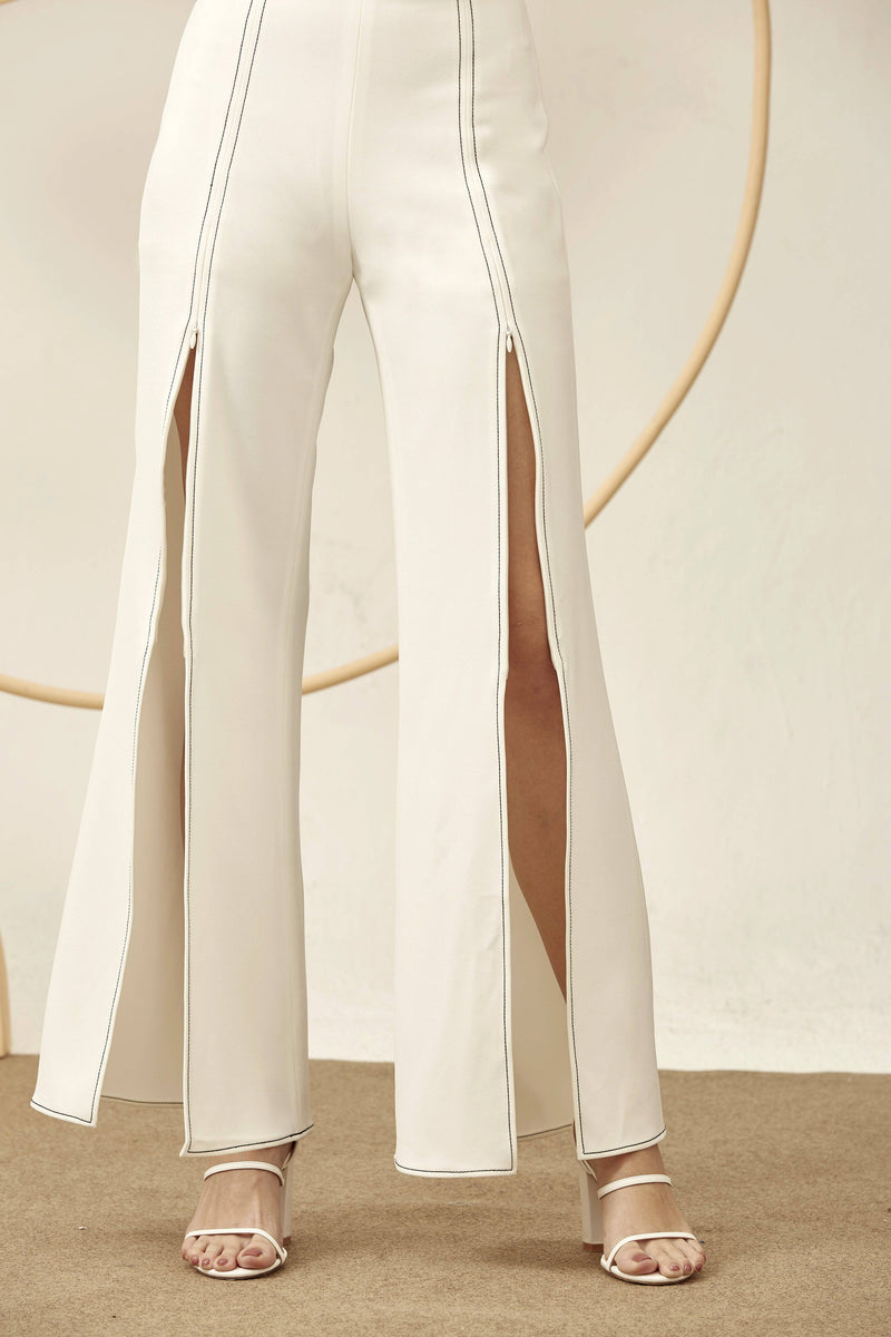 Kiki Trousers-Bottoms-MISS MODERN-XS-WHITE-MISS MODERN