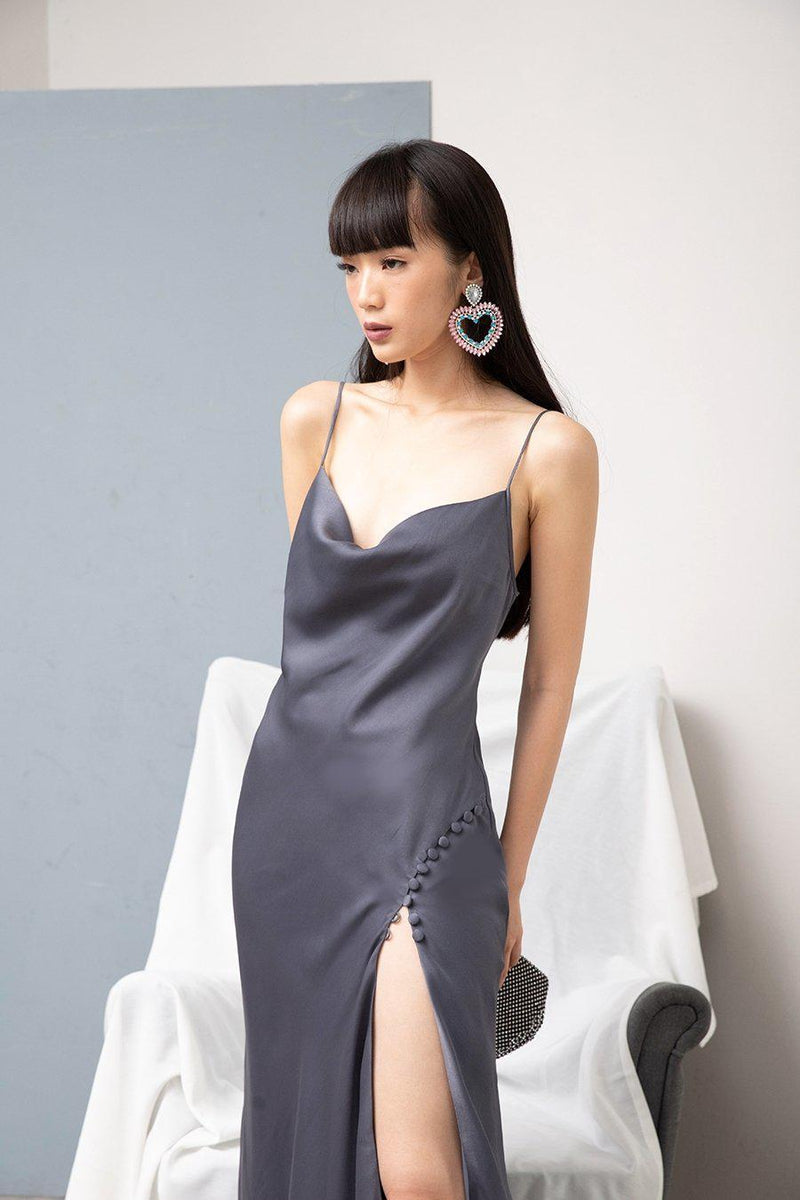 LET ME DRESS-Dress-MISS MODERN-XS-Midnight Grey-MISS MODERN