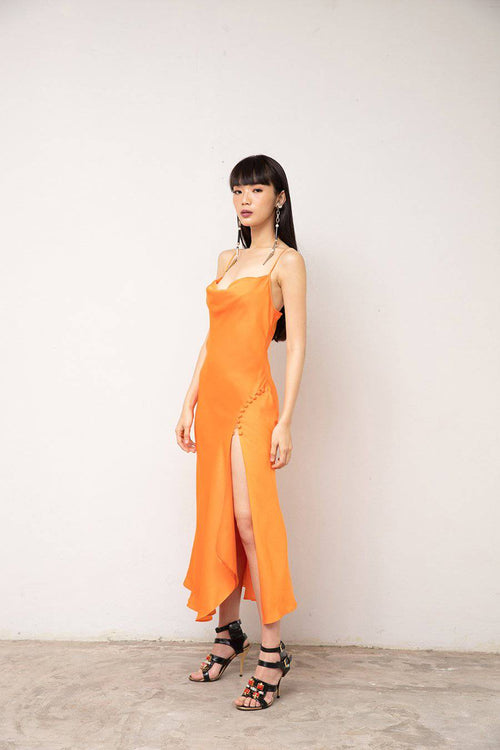 Let Me Dress-Dress-MISS MODERN-XS-Neon Orange-MISS MODERN