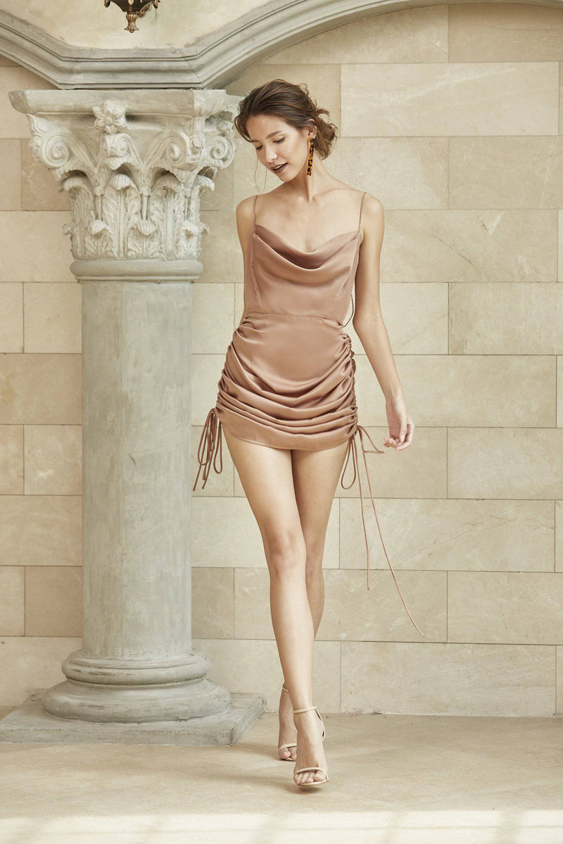 Meet Me Half Way Dress - Bronze-dress-MISS MODERN Boutique-MISS MODERN