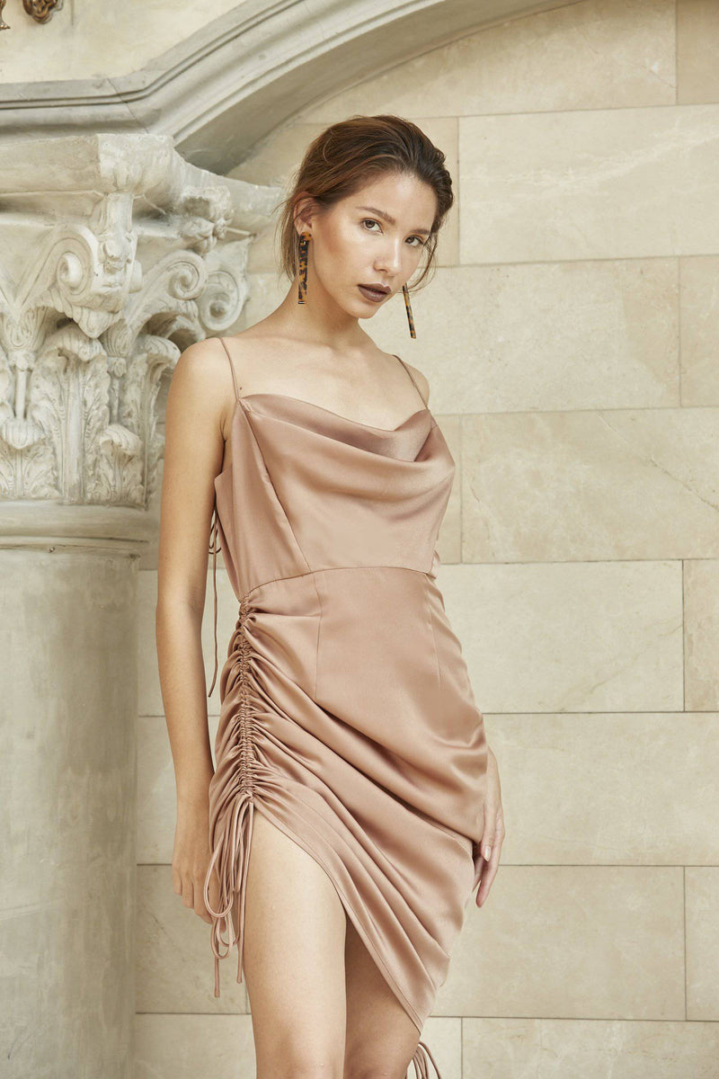 Meet Me Half Way Dress - Bronze-dress-MISS MODERN Boutique-XS-Bronze-MISS MODERN