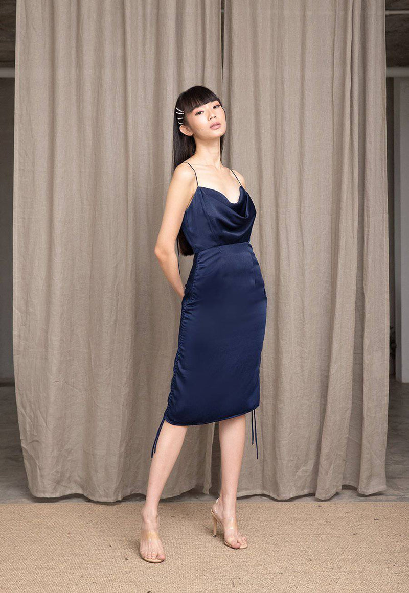 MEET ME HALF WAY DRESS- NAVY-Dress-MISS MODERN-MISS MODERN