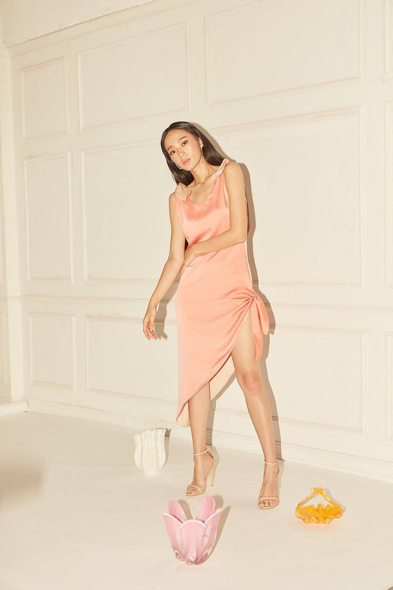 Melt Me Dress-MISS MODERN-XS-BEIGE-ORANGE-MISS MODERN