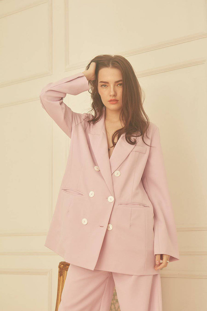 New Rules Oversized Blazer-Bottoms-MISS MODERN-freesize-Lavender-MISS MODERN