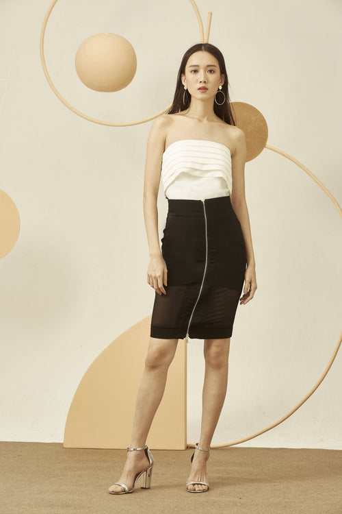 Selene Zip Skirt-Bottoms-MISS MODERN-MISS MODERN