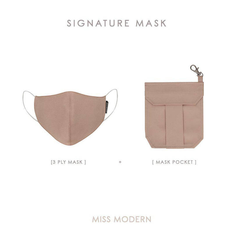 Signature Silk Mask & Mask Pocket-mask-MISS MODERN-ROSEGOLD-MISS MODERN