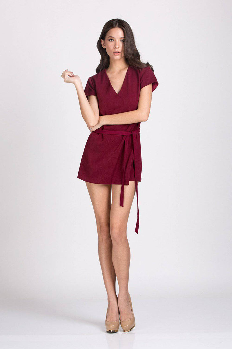 Silent Charming Playsuit-Jumpsuit-MISS MODERN Boutique-S-Red-MISS MODERN