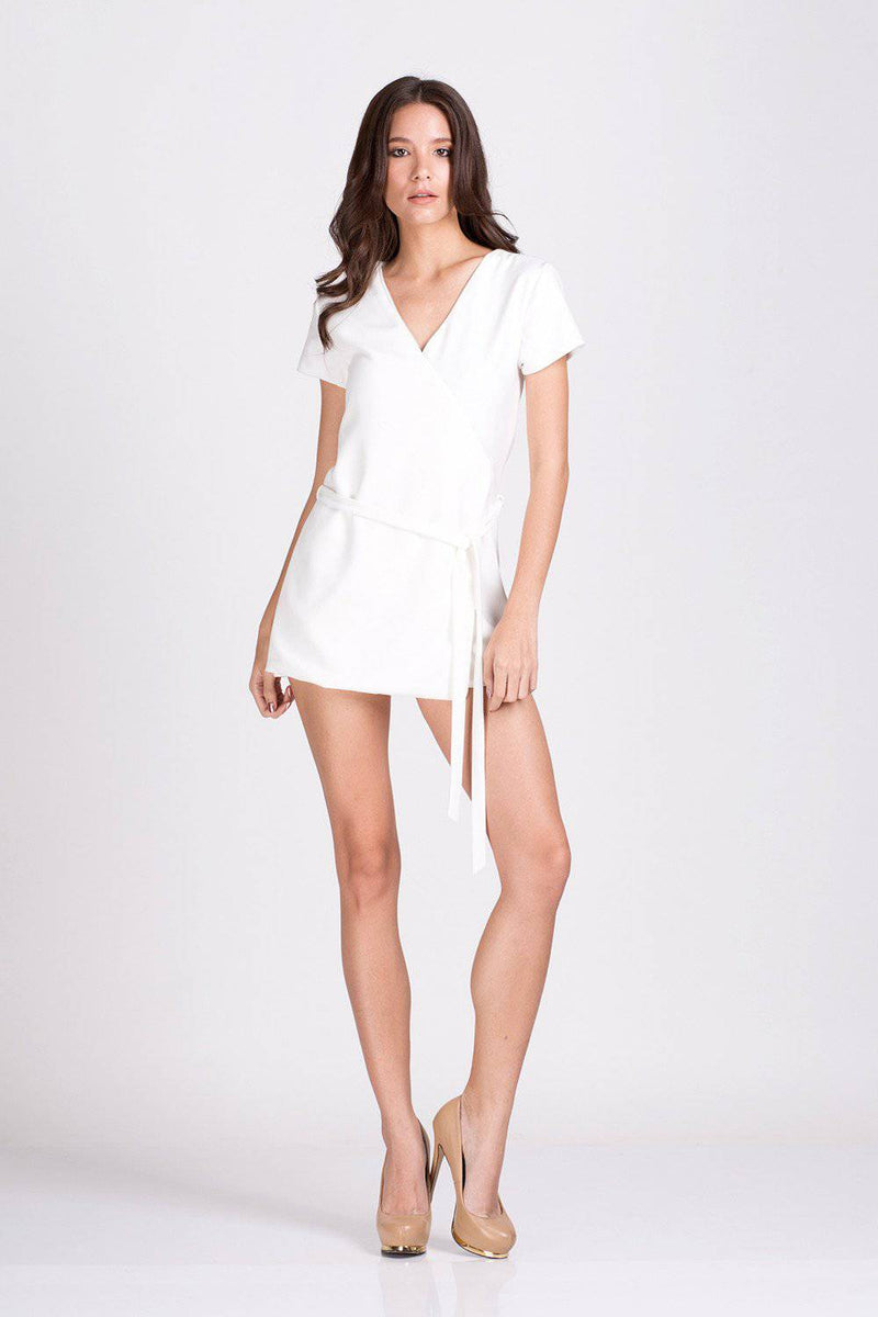 Silent Charming Playsuit-Jumpsuit-MISS MODERN Boutique-S-White-MISS MODERN