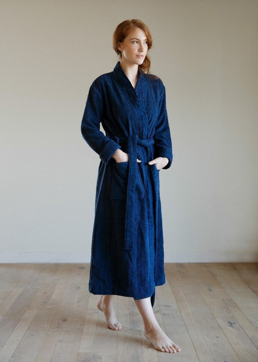 100% Turkish Cotton - Pleated Robe - Be Well With Nikki