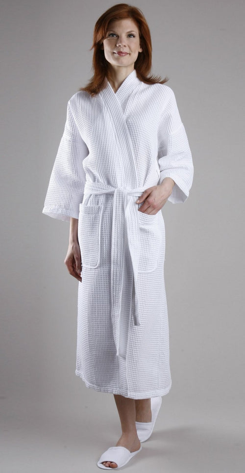 401 Lightweight waffle kimono-Robes-Be Well With Nikki
