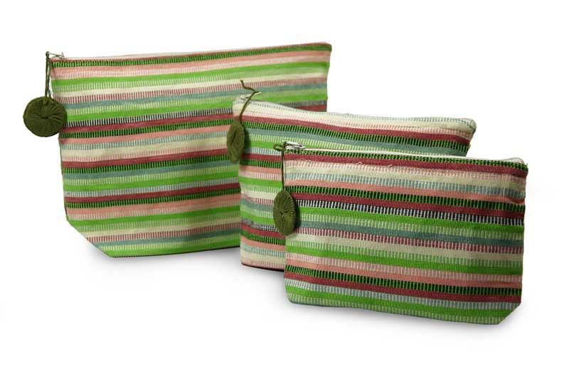 Handwoven Cotton Cosmetic Bags