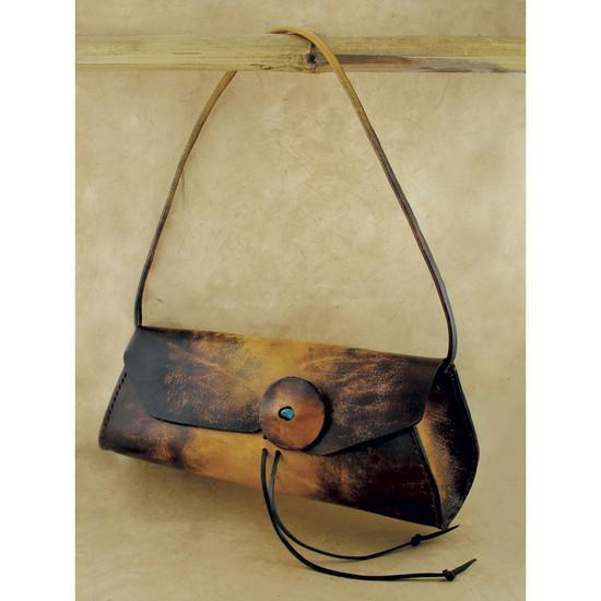 Camel and Brown Leather Purse-Fashion Accessories-Be Well With Nikki