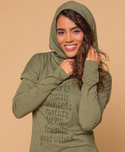 Organic Cotton Cowl Neck Hoodie-Women Clothes-Be Well With Nikki