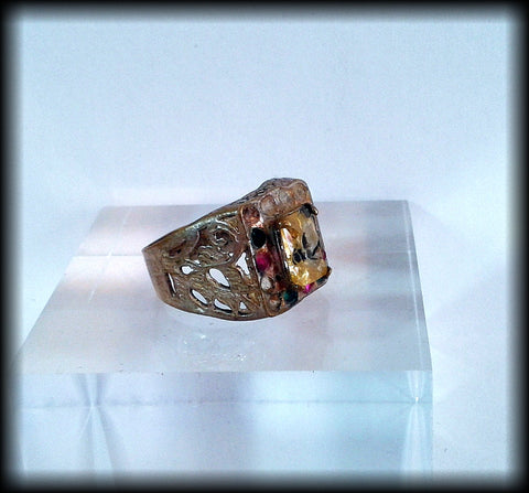 Antique Near Eastern Ring with Gemstones - Preloved Jewels