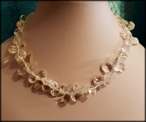 925 Sterling Silver and Polished Crystal Quartz Chunky Beaded Necklace From TJC - Preloved Jewels