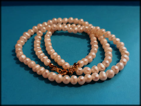 "Vintage Classic Style Freshwater Pearl Beaded Necklace - 20"" - Preloved Jewels"