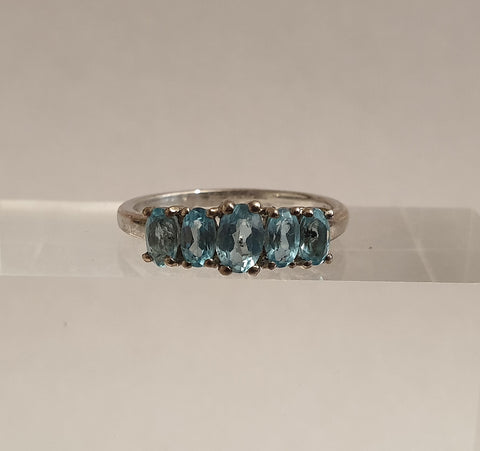 925 Sterling Silver and Blue Topaz Ring from The Genuine Gemstone Company - Preloved Jewels