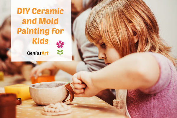 DIY Ceramic and Mold Painting for Kids with Fun Designs
