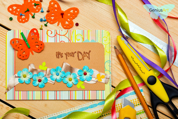 Diy paper crafts ideas how to make handmade greeting cards and card stock art paper or bond paper size and color of your choice m4hsunfo