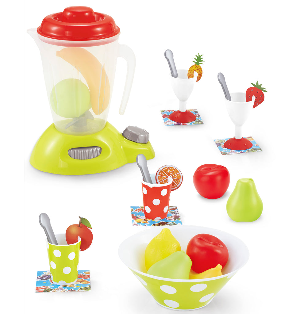 Genius Art Blender Toy - Play Kitchen Accesories - Pretend Food Set with Appliances for Pretend Play Cooking (27 Pieces)