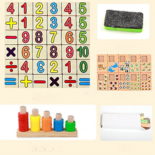 Genius Art Wooden Color and Shape Geometric Sorting Puzzle Board Educational Toys