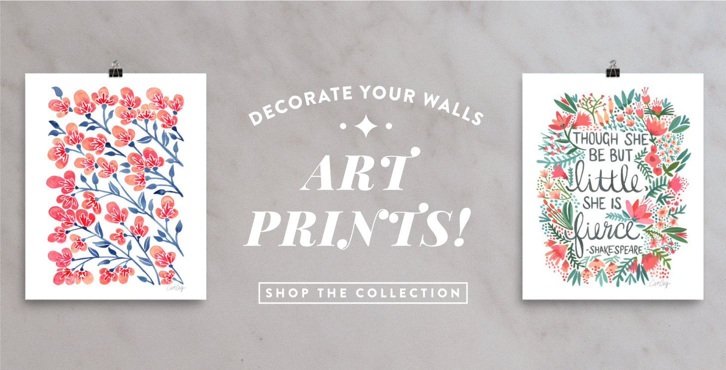 Decorate your walls with affordable art prints! Shop the collection.