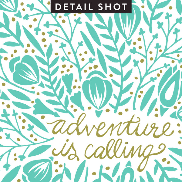 Adventure is Calling – Mint Palette • Art Print