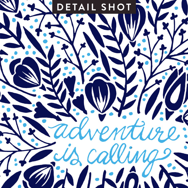 Adventure is Calling – Navy Palette • Art Print