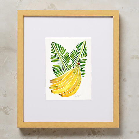 Banana Bunch – Yellow & Green • Art Print