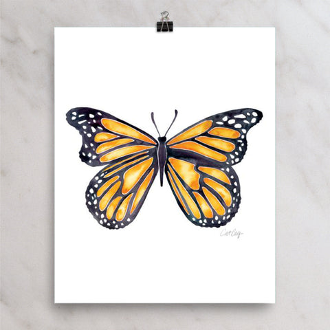 Butterfly – Monarch Orange Palette • Art Print