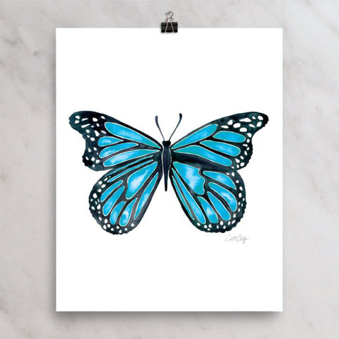 Butterfly – Blue Palette • Art Print