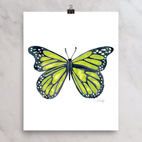 Butterfly – Lime Palette • Art Print