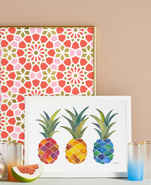 Rainbow Pineapples • Art Print