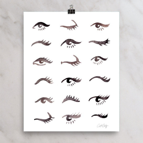 Mascara Envy – Black Palette • Art Print