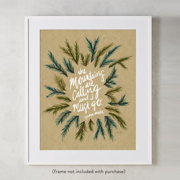 Mountains are Calling – Kraft Palette • Art Print