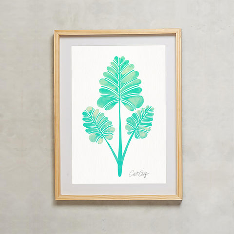 Palm Leaf Trifecta – Mint Palette • Art Print