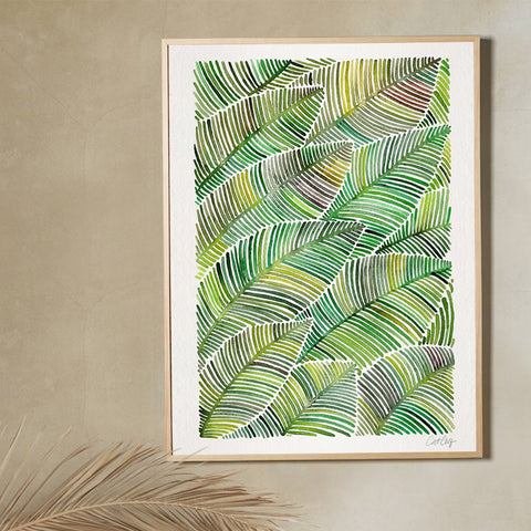 Tropical Leaves – Green Palette  •  Art Print