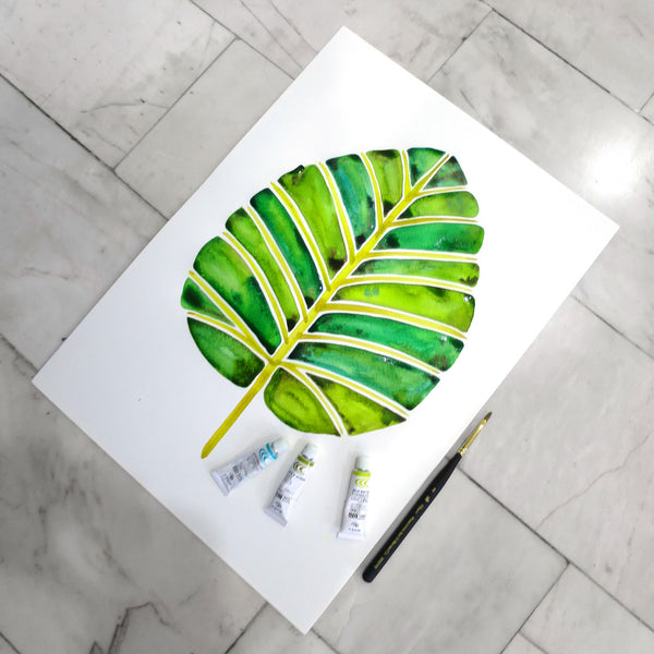 Elephant Ear Alocasia – Green Palette • Art Print