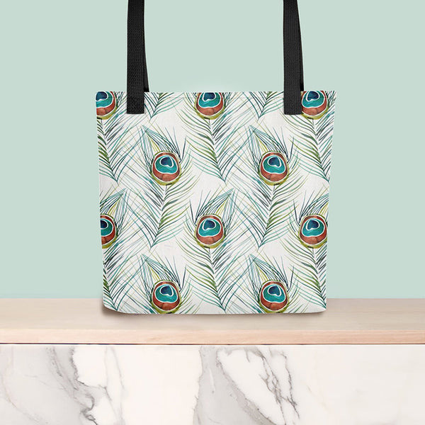 Peacock Feather • Tote Bag