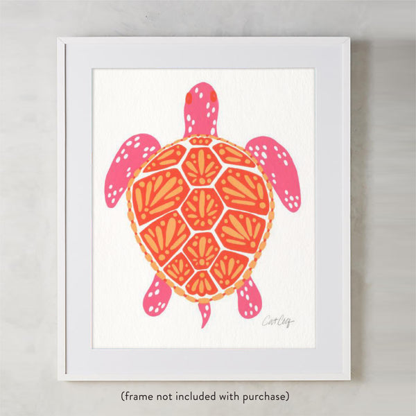 Sea Turtle – Melon Palette  •  Art Print