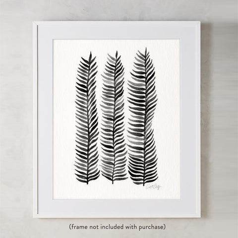 Stems – Black Palette  •  Art Print
